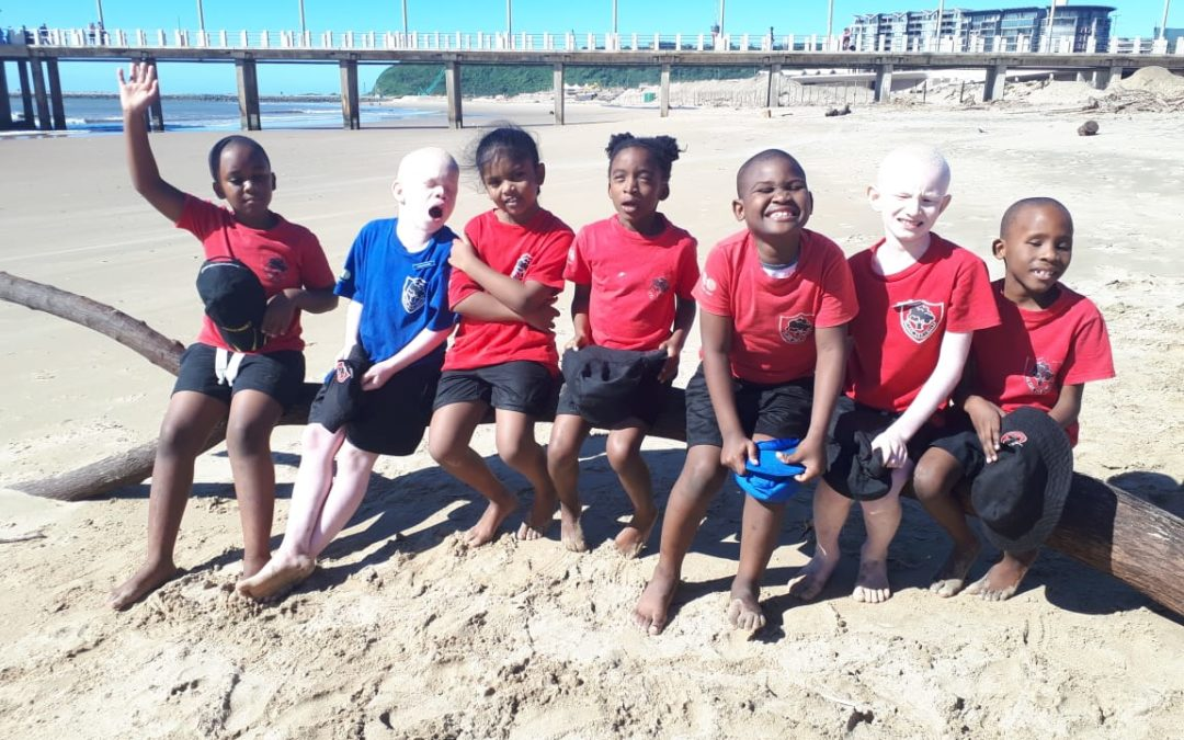 Excursion to uShaka Beach for Foundation Phase Blind and Visually Impaired Learners